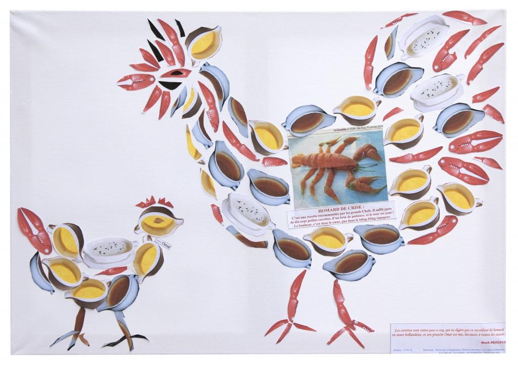 Coq caroténé au homard
